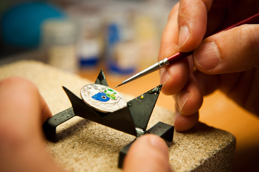 Watch enamelling workshop